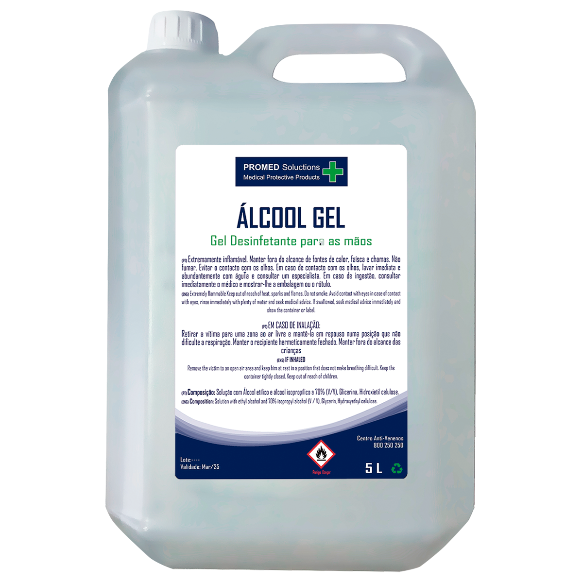 Álcool Gel Desinfectante 5L